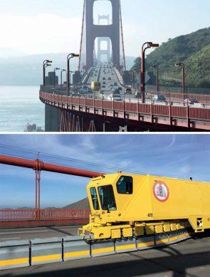 Golden Gate Bridge and Lindsay Road Zipper