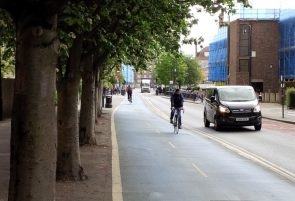 Cycle lanes in a city
