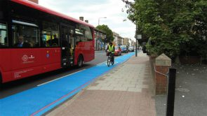 Painted cycle lanes