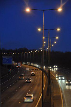 Lighting systems on UK motorway