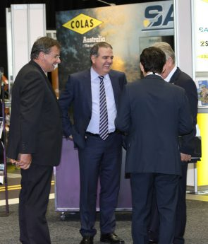 Thierry Defréne (chief executive of Colas Australia, AAPA oard member), Michael Caltabiano, Tony Aloisio, Neil Scale